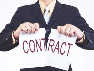 employer tearing off contract for employment termination