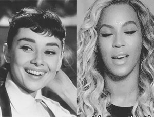Audrey Hepburn and Beyonce