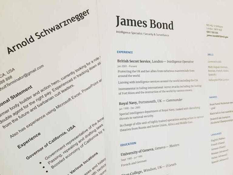 Sample of a generic resume