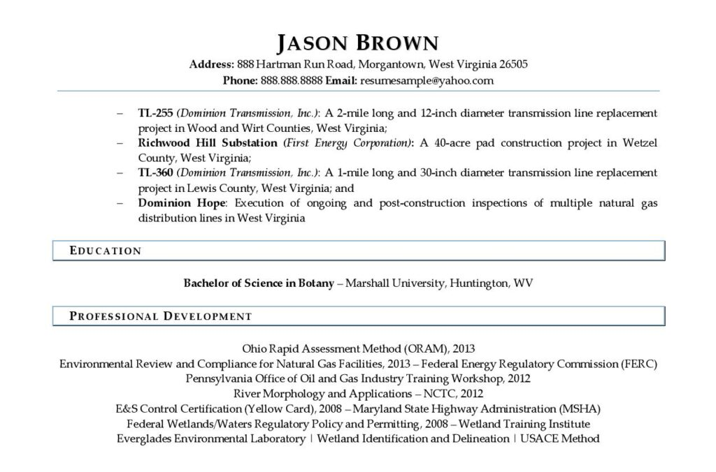 Page 2 Of An Environmental Scientist Resume Example Prepared By Resume Professional Writers
