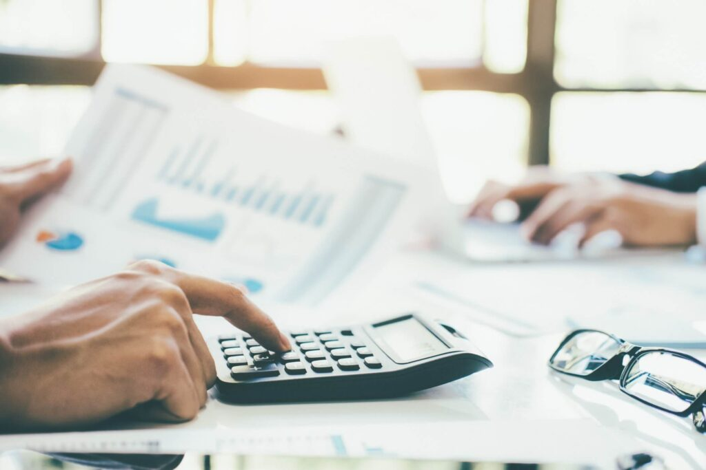 Senior Accountant Calculating The Budget