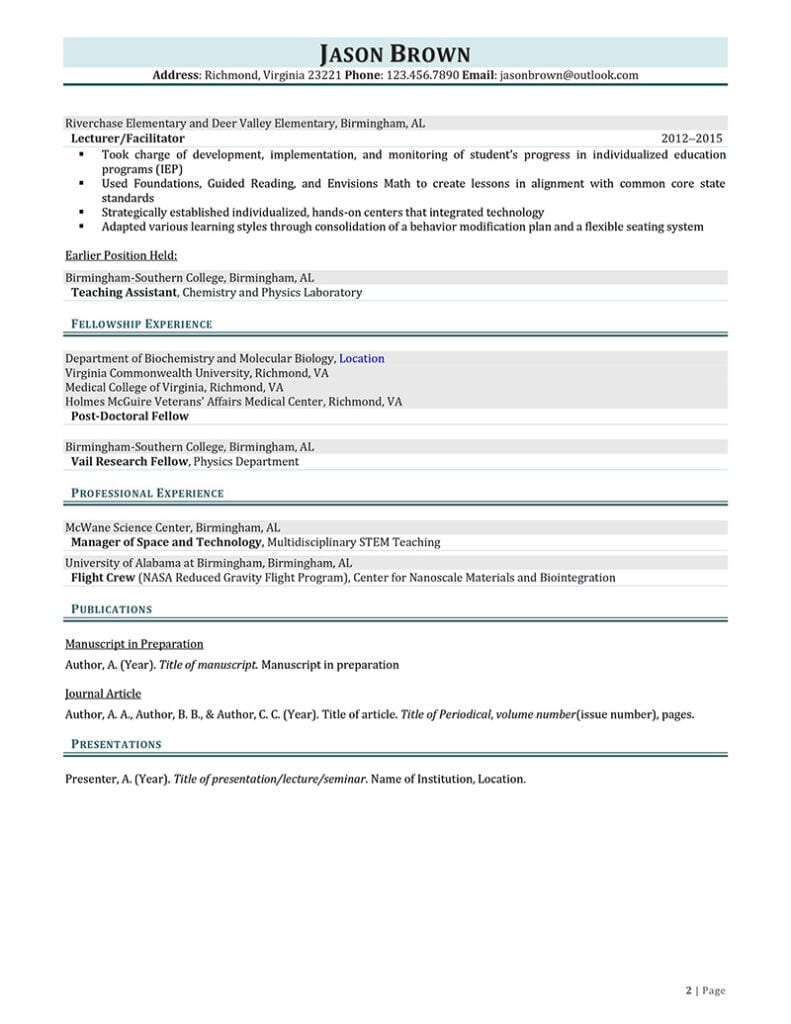 Page 2 Of A Research Intern Resume Example Prepared By Resume Professional Writers