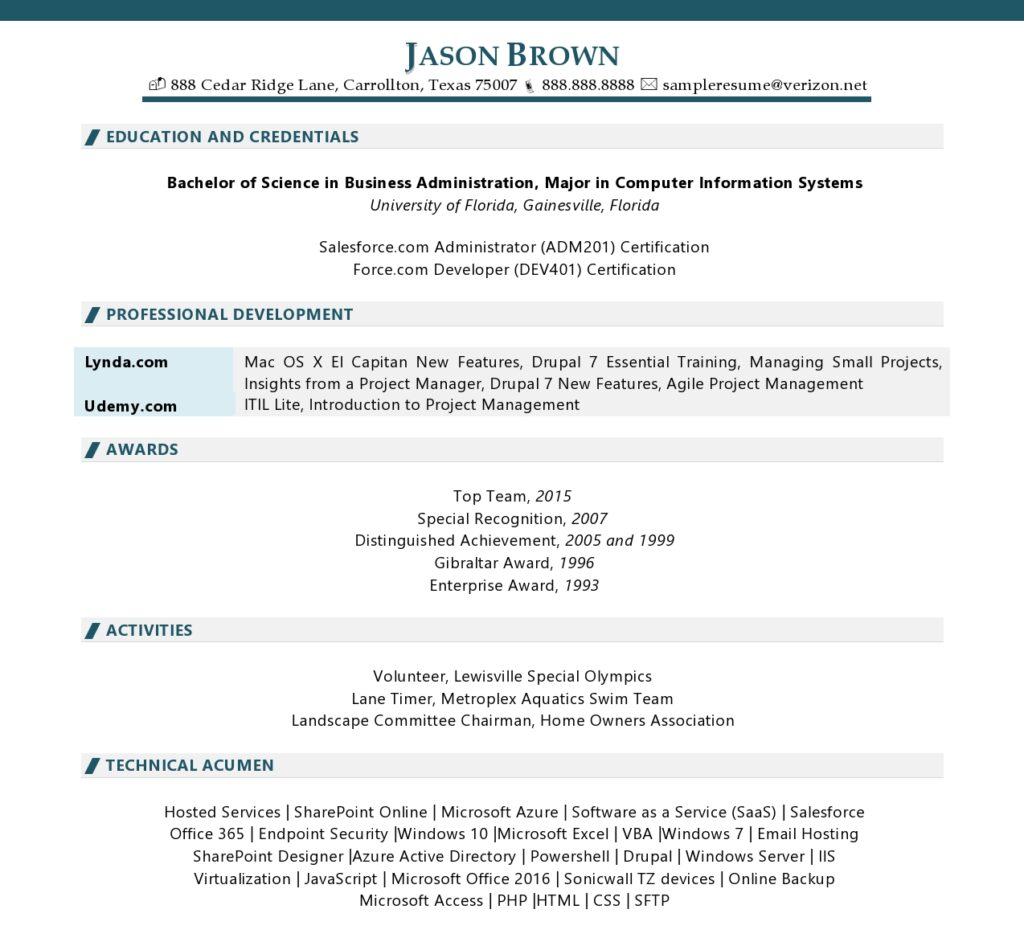 Page 2 Of An It Manager Resume Example Prepared By Resume Professional Writers