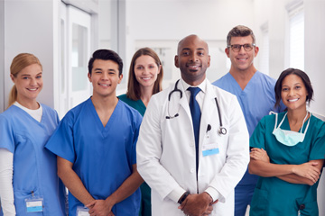 Multi-Cultural-Medical-Team-Standing