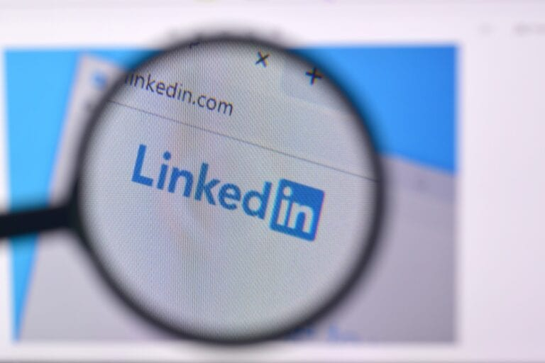 magnifying glass and linkedin recommendation examples