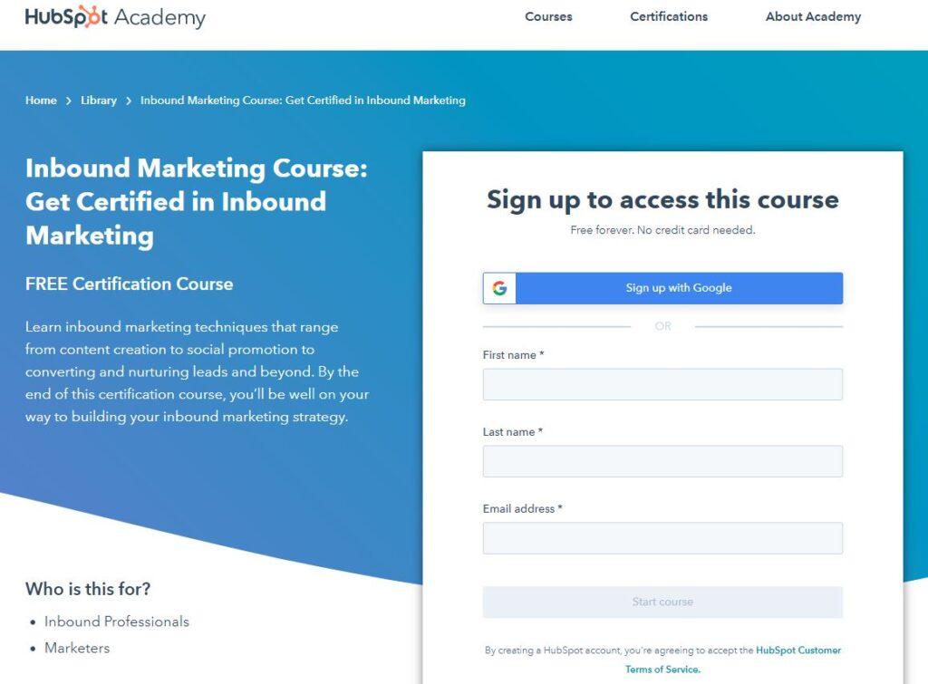 Homepage Of Hubspot