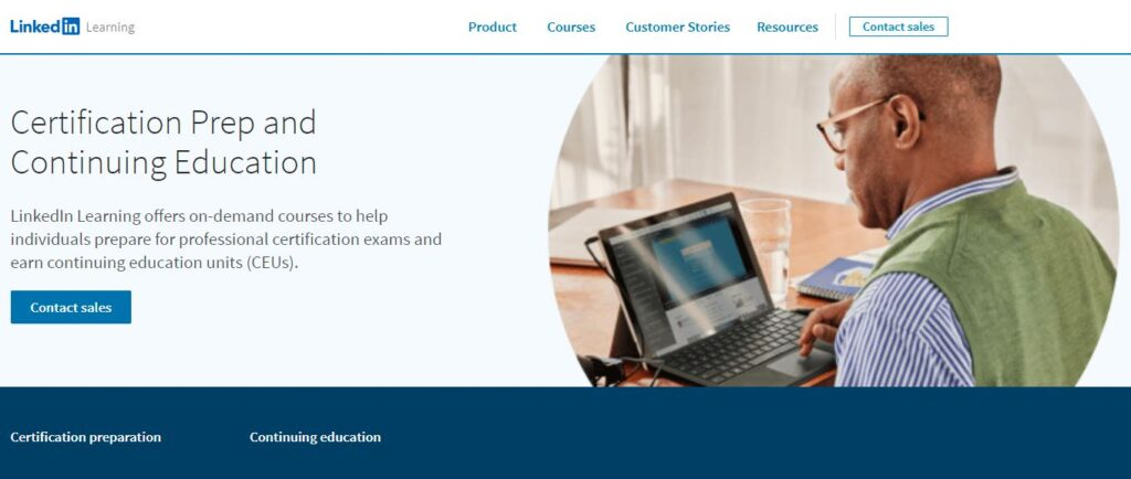 Homepage Of Linkedin Learning