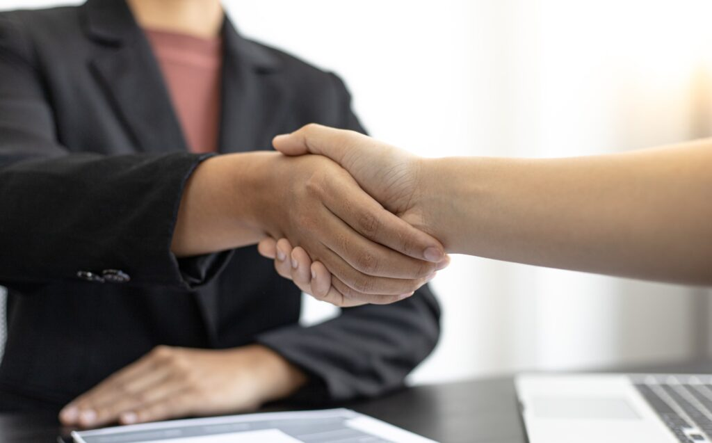 successful job interview applicant is hired