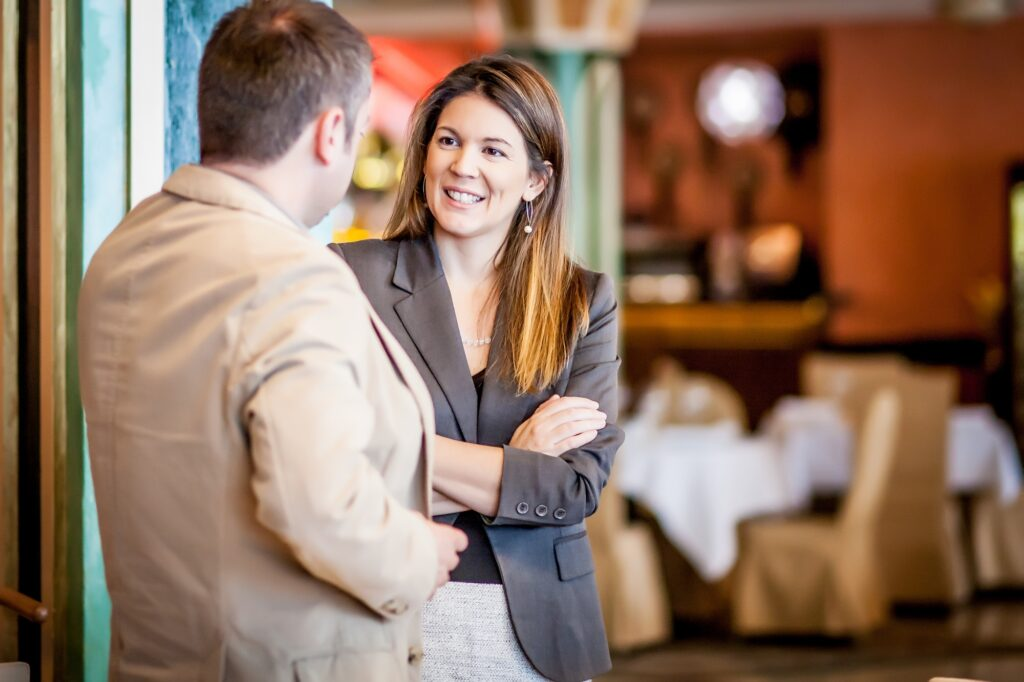 Business Networking Involves Elevator Pitch