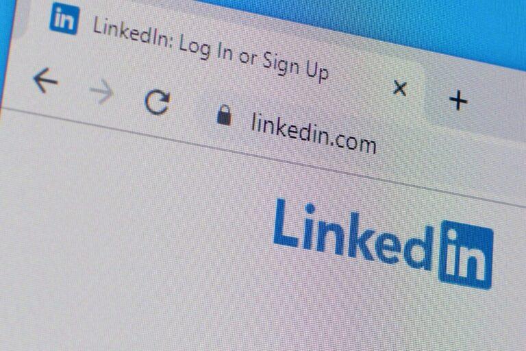 LinkedIn profile homepage