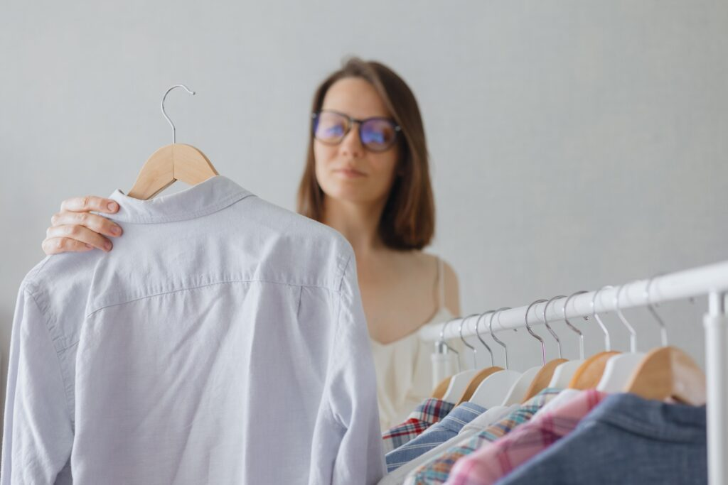 Woman Choosing Outfit For Interview