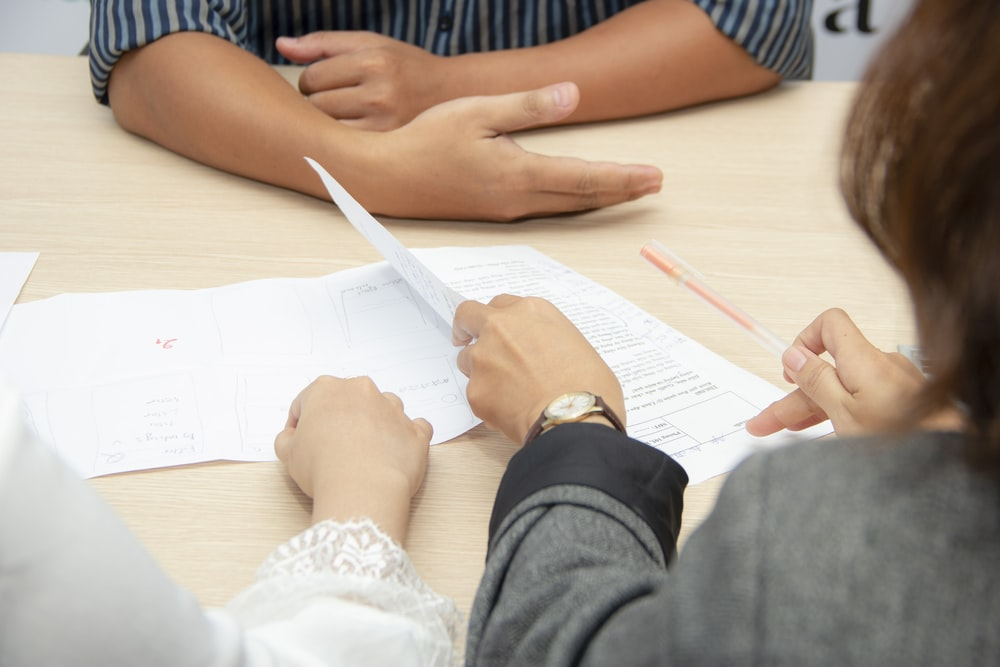 A hiring manager reviewing a candidate's resume