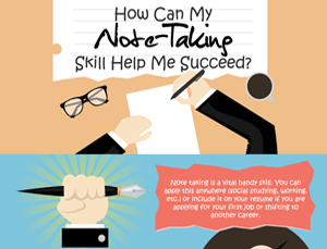 note-taking skill vector image