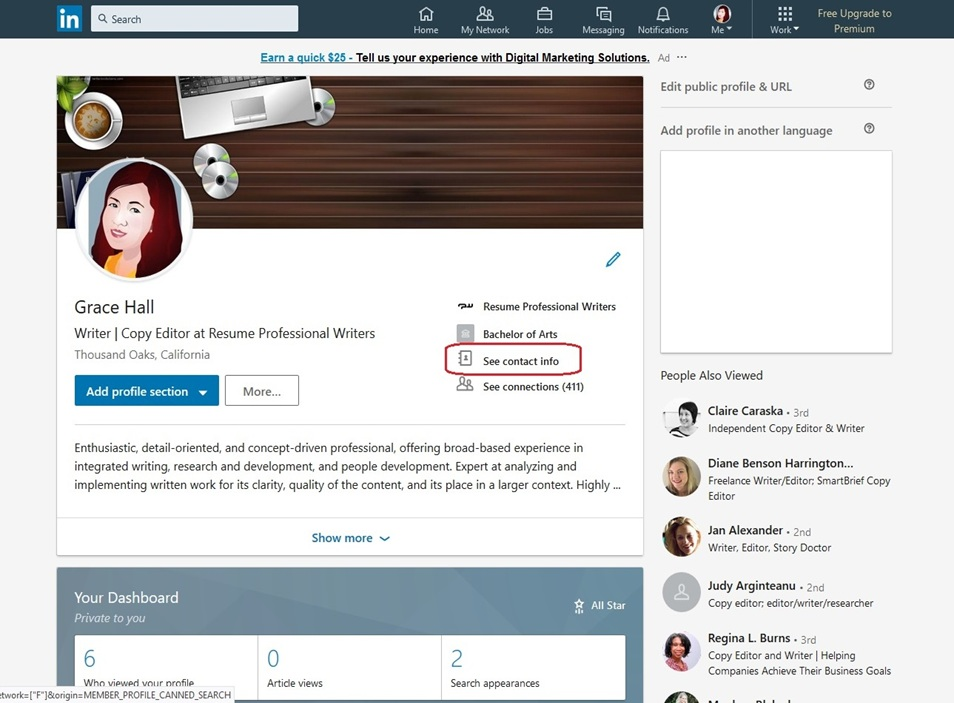 LinkedIn Profile Image 20