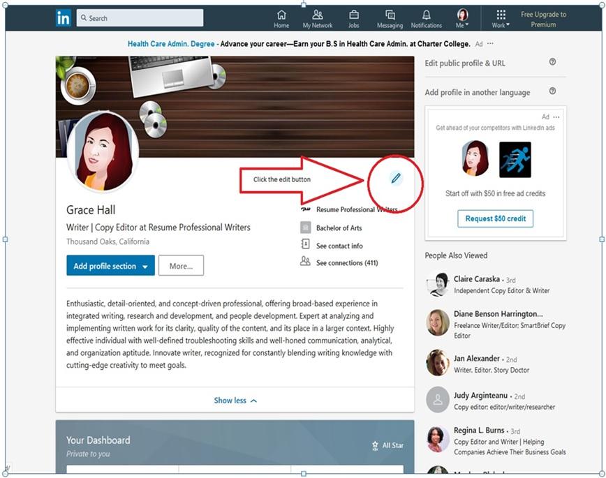 LinkedIn Profile Image 3