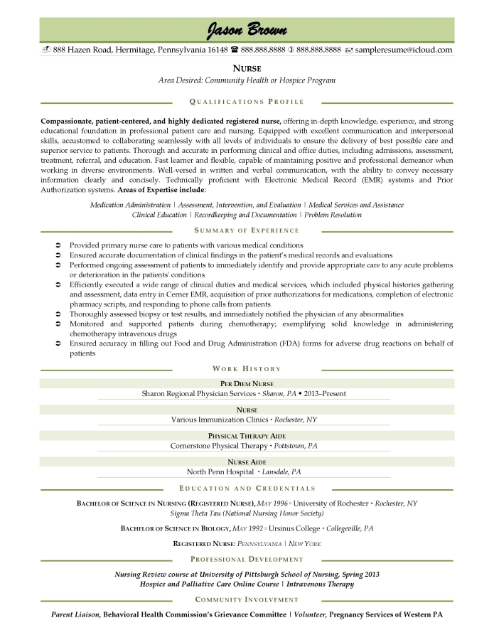 Effective Nurse Resume Examples can help you write the best resume and land your target job.