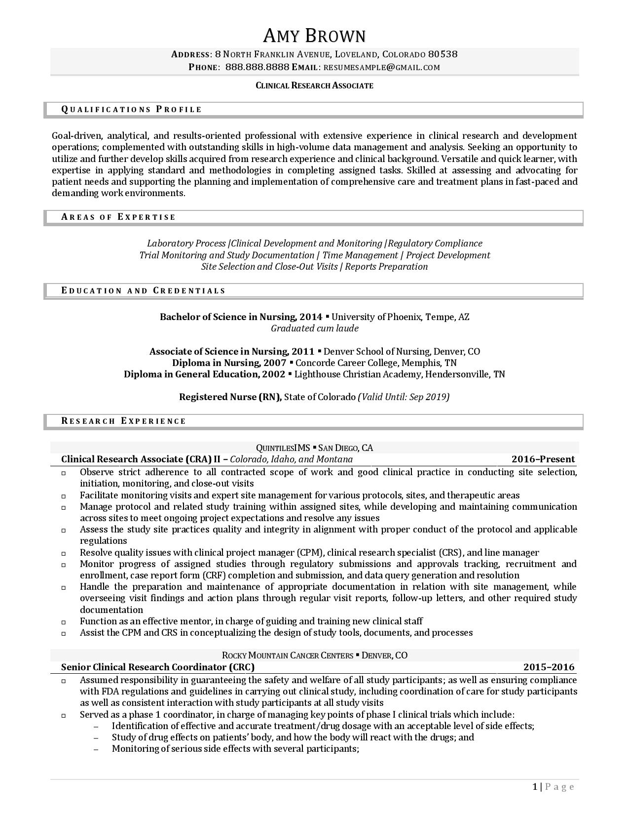 research intern resume examples